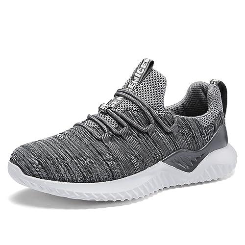UBFEN Zapatillas de Running Padel para Hombres Zapatos Deportivas Gimnasio Correr Deportes de Exterior y Interior Fitness Casual Sneakers