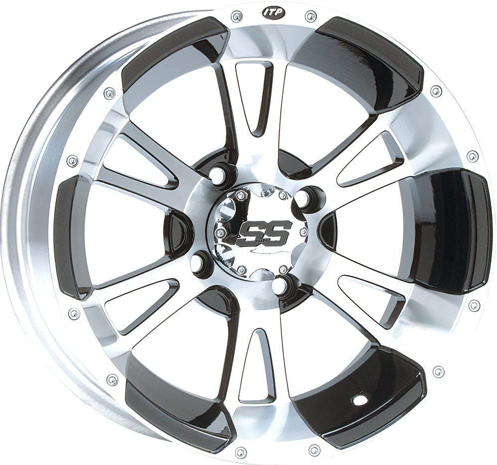 ITP SS ALLOY SS112 Black Wheel with Machined Finish 14x6//4x110mm