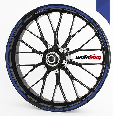 - Farbe w/ählbar OneWheel Felgenrandaufkleber 8mm Motorrad /& Auto 10 Felgenstreifen f/ür Vorder- /& Hinterreifen 15-19 Zoll Blau - matt