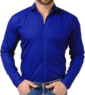 0c7f653a62 Sunshiny Men s Cotton Long Sleeve Shirt (Royal Blue
