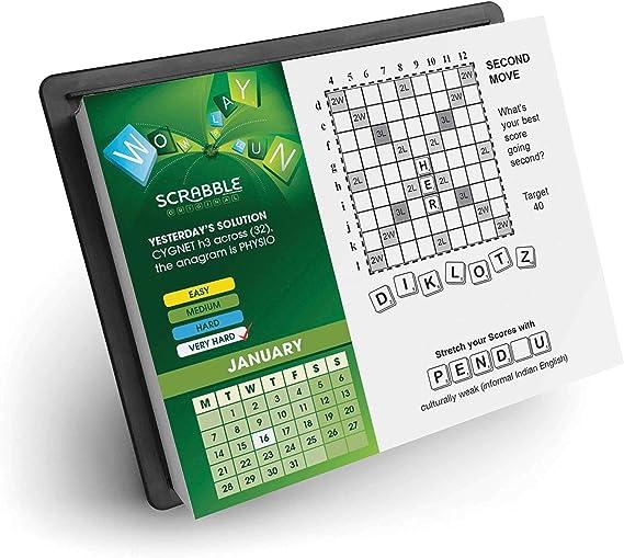 Scrabble - Calendario oficial de día a día 2019 + imán para nevera: Amazon.es: Oficina y papelería