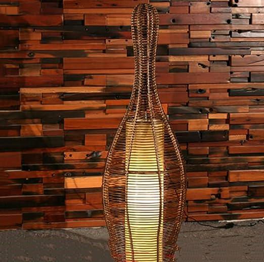 Ppy778 Lámpara de pie de Rattan/lámpara de Estudio de Restaurante ...