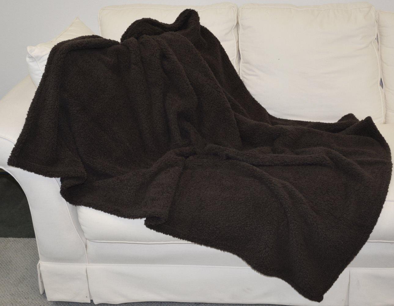 Sherpa Throw Blanket Blue 50\