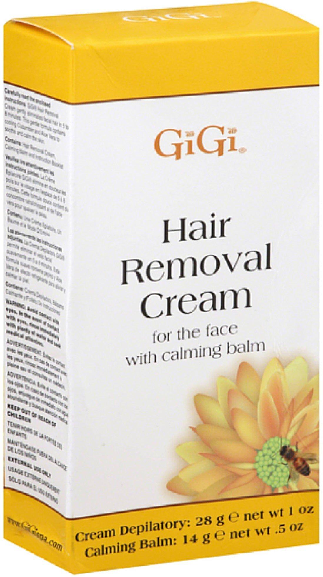 GiGi Hair Removal Cream with Calming Balm For Bikini & Legs 1 ea (Pack of 12)