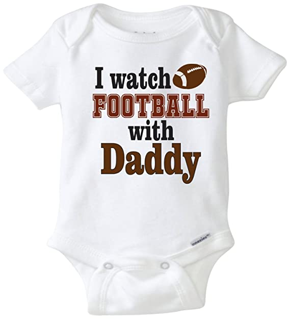 fffeb8bed Promini Funny Baby Onesie I Watch Football with Daddy Footballbaby Bodysuit  Cute Infant One-Piece