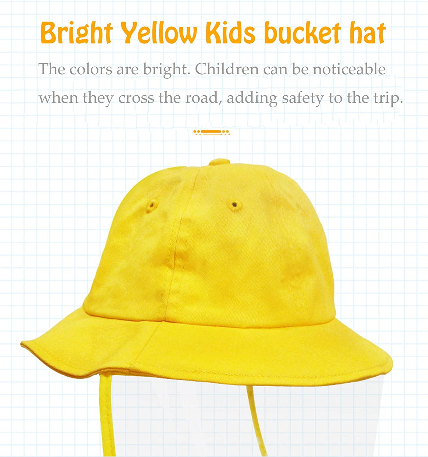 Protective Hat Anti Saliva Sun Bucket Hat with Face Shield Protection for Adults