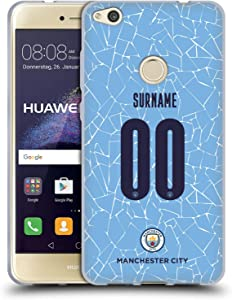 Head Case Designs Officially Licensed Custom Customized Personalized Manchester City Man City FC Home 2020/21 Badge Kit Soft Gel Case Compatible with Huawei P8 Lite (2017)