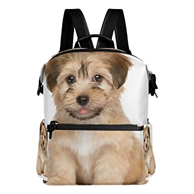 300a59bcd98d La Random Cute Havanese Puppy Dog Custom Backpack School Bag Travel Daypack