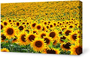 SIGNFORD Canvas Wall Art for Living Room,Bedroom Home Artwork Paintings Sunflower Ready to Hang - 24x36 inches