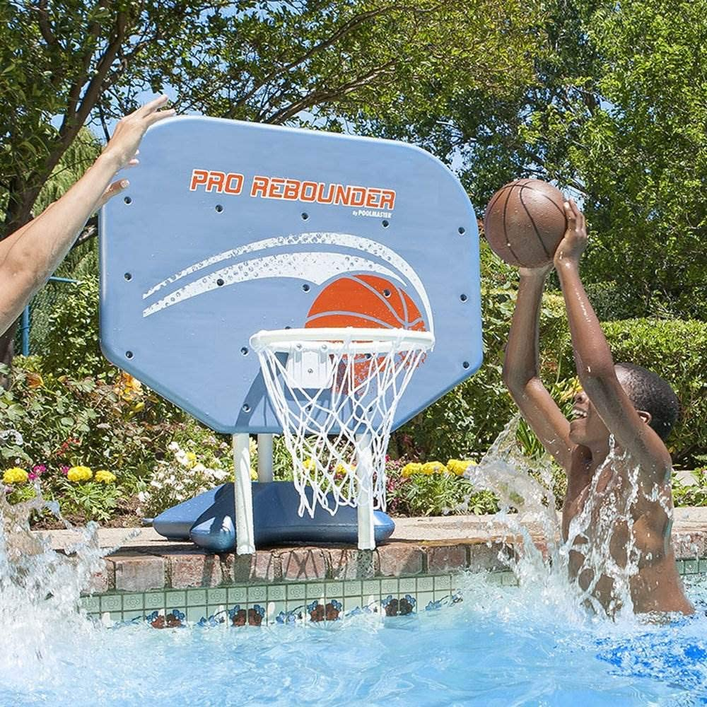 Pool Master Pro Rebounder Basketball Set
