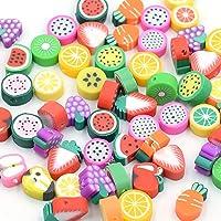 Guanyj 100 Stuks Polymeer Klei Kralen Handgemaakte Fruit Gemengd Fruit Kralen Klei Kraal Fruit voor Sieraden Maken voor…