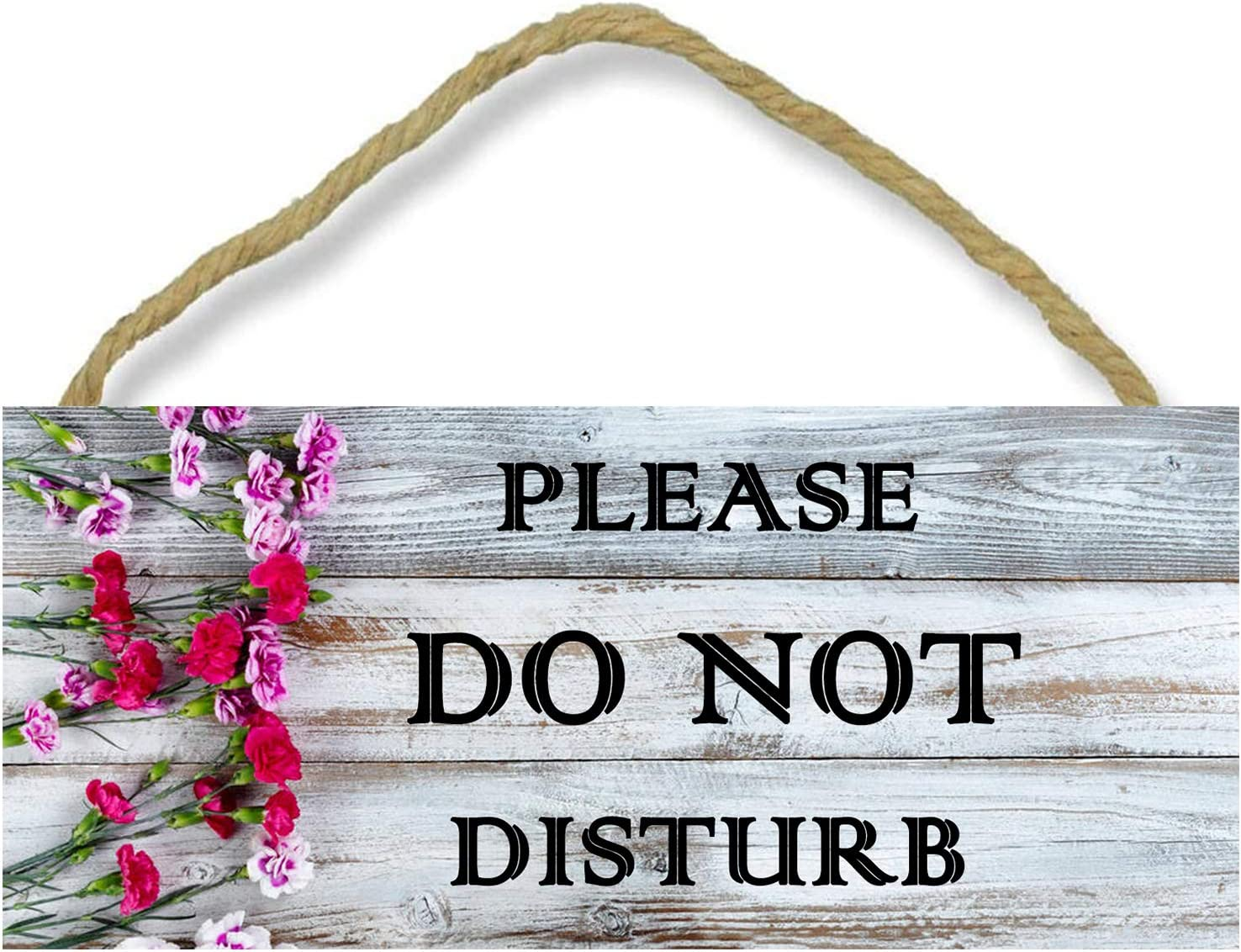 WSNIHO Do Not Disturb Door Sign, Double Sided Decorative Wood Sign for Home, Offices, Clinics, Law Firms, Hotels or During Therapy, Spa Treatment, Counseling Sessions (10