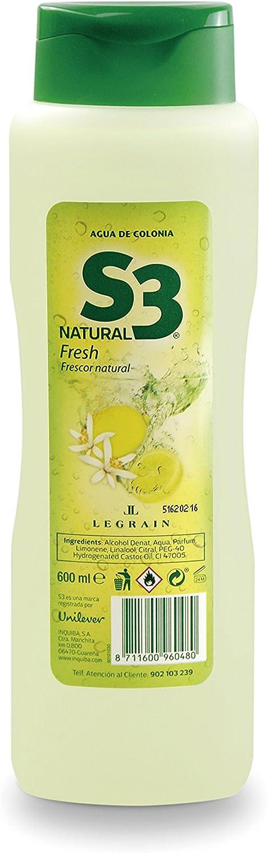 S3 Aqua de Colonia Natural Fresh 600 ml: Amazon.es: Belleza