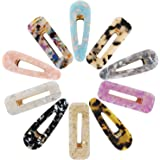 Acrylic Resin Hair Clips for Women Girls, Funtopia 10 Pcs Fashion Hair Barrettes Geometric Alligator Hair Clips for Party Daily Hairstyling