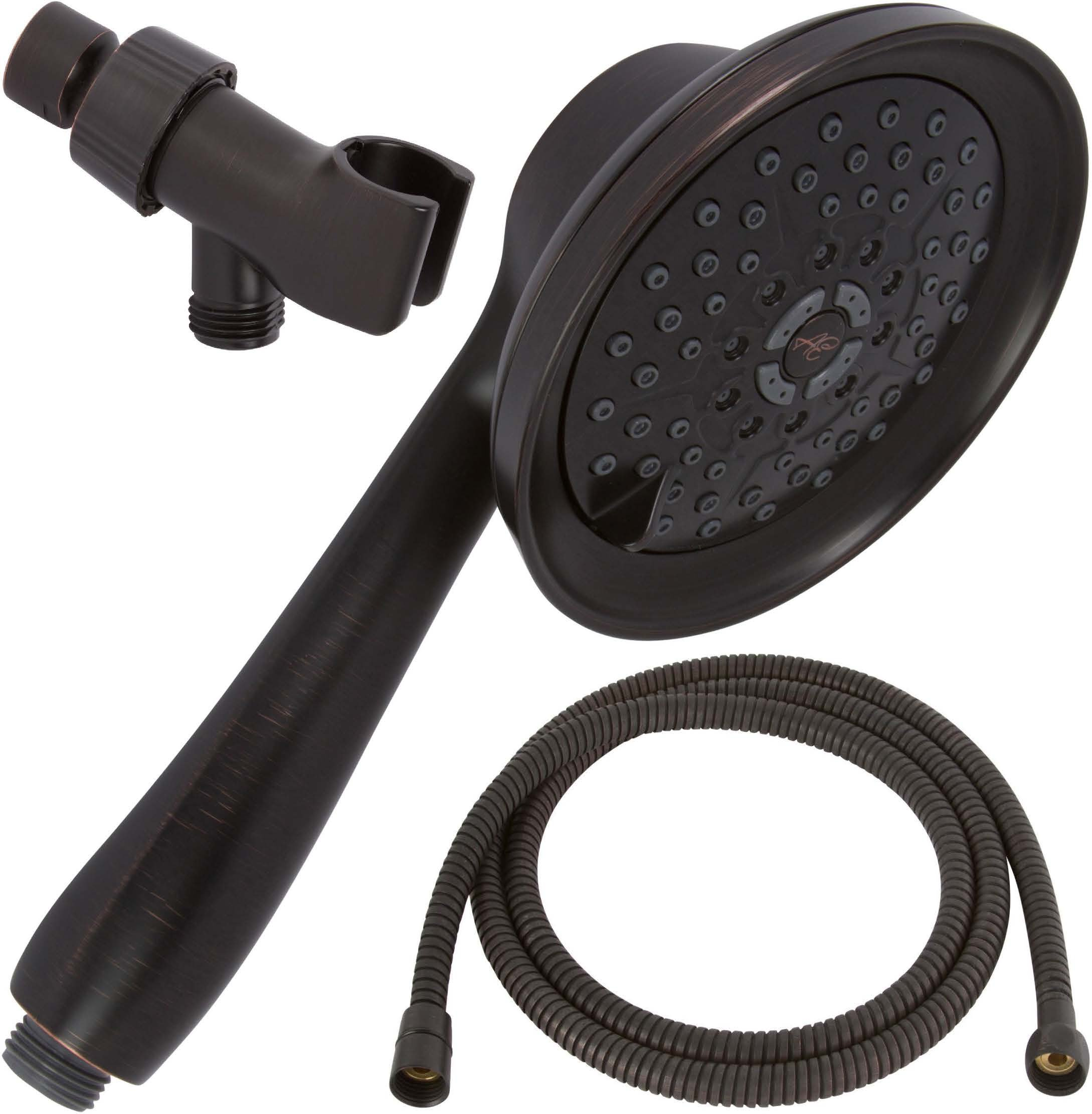 Shower Massager Handheld With Hose - Massage & Mist Hand Held Showerhead Kit - High Pressure Removable Head And Mount - Adjustable Massaging Rainfall Spray - Oil-Rubbed Bronze