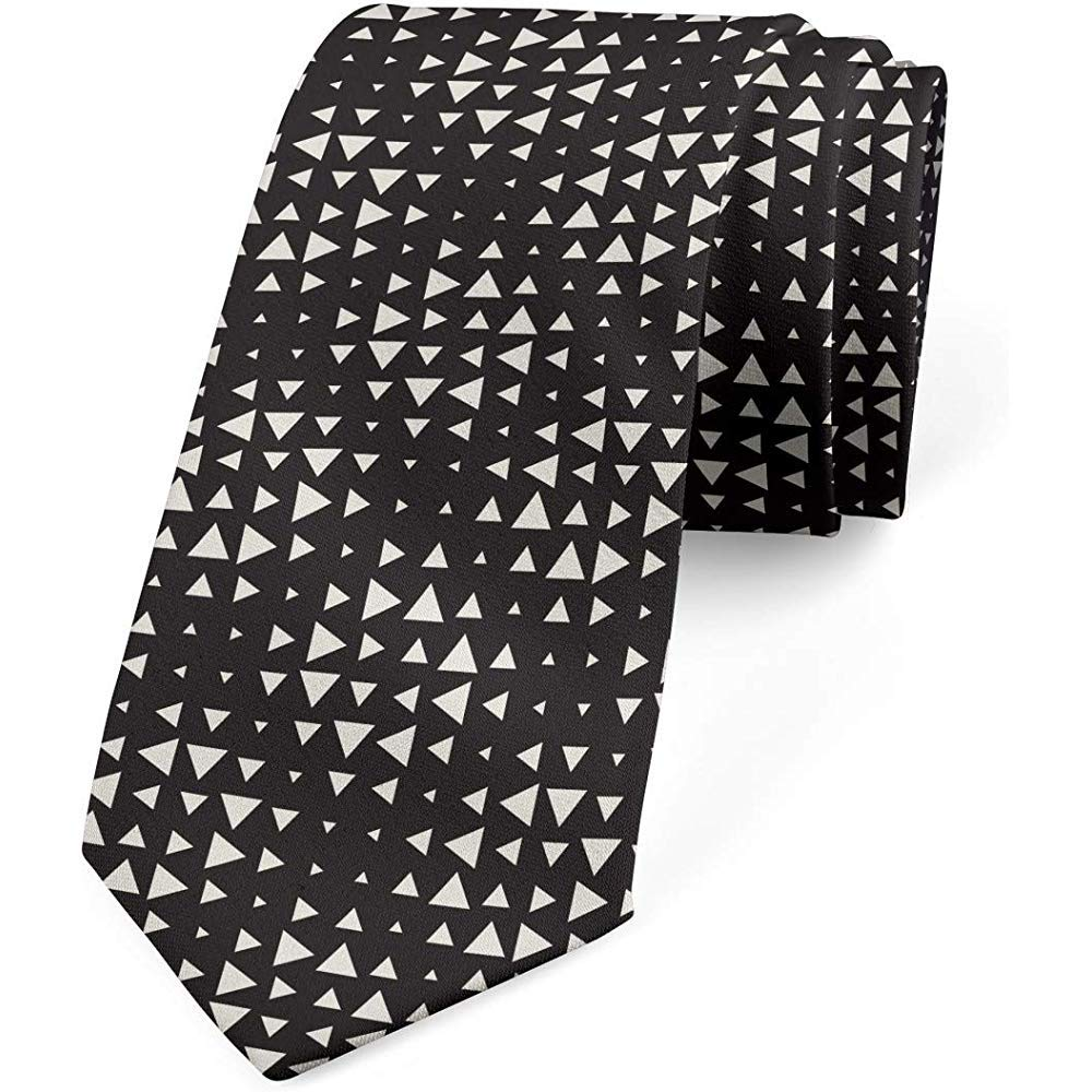 Corbata, arte de triángulos de medio tono, cáscara de huevo gris ...