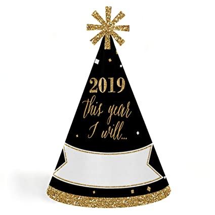 Amazon Com New Year S Eve Gold 2019 Cone New Years Eve