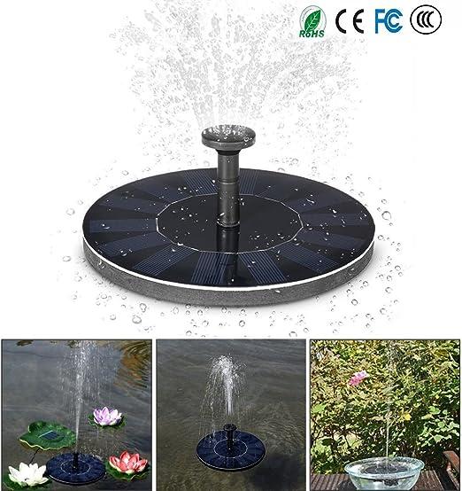 Sallypan sol Brunnen, S1386-a pájaro baño Bomba para pozos 1.4 W Panel Solar Kit Bomba de agua, Exterior de riego – Bomba sumergible para estanque, piscina, Jardín, Acuario, Acuario: Amazon.es: Jardín