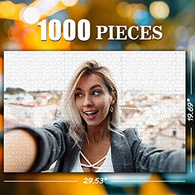 Custom Photo Jigsaw Puzzle for Adults 1000 Pieces - Personalized Photo Funny Gifts Custom Puzzles from Photos for Kids Mother's Day DIY Gift Stay at Home Wedding Gifts Family Love Friends: Toys & Games