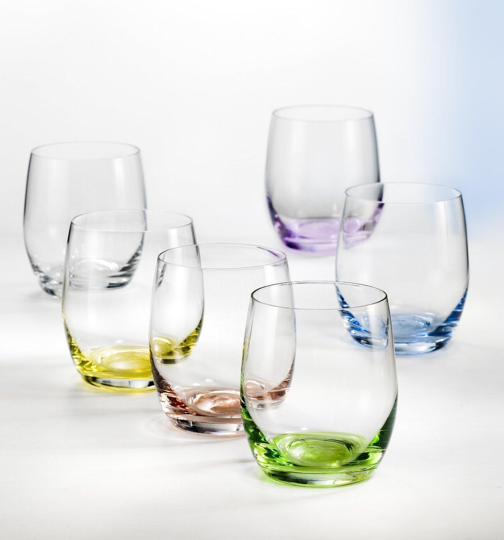 Bohemia cristal copas de agua Rainbow 300ml, 6unidades, varios colores Royal BC