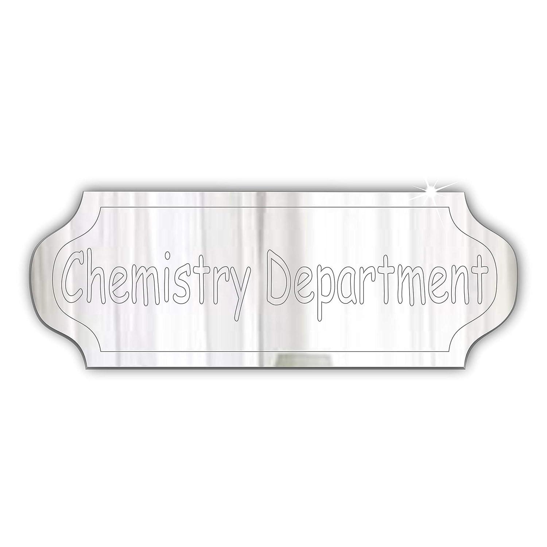 Chemistry Department porta sign- Plaque–Signage–personalizzabile con qualsiasi nome–Home–Office–scuola università–College, Bold font Mirrors-Interiors