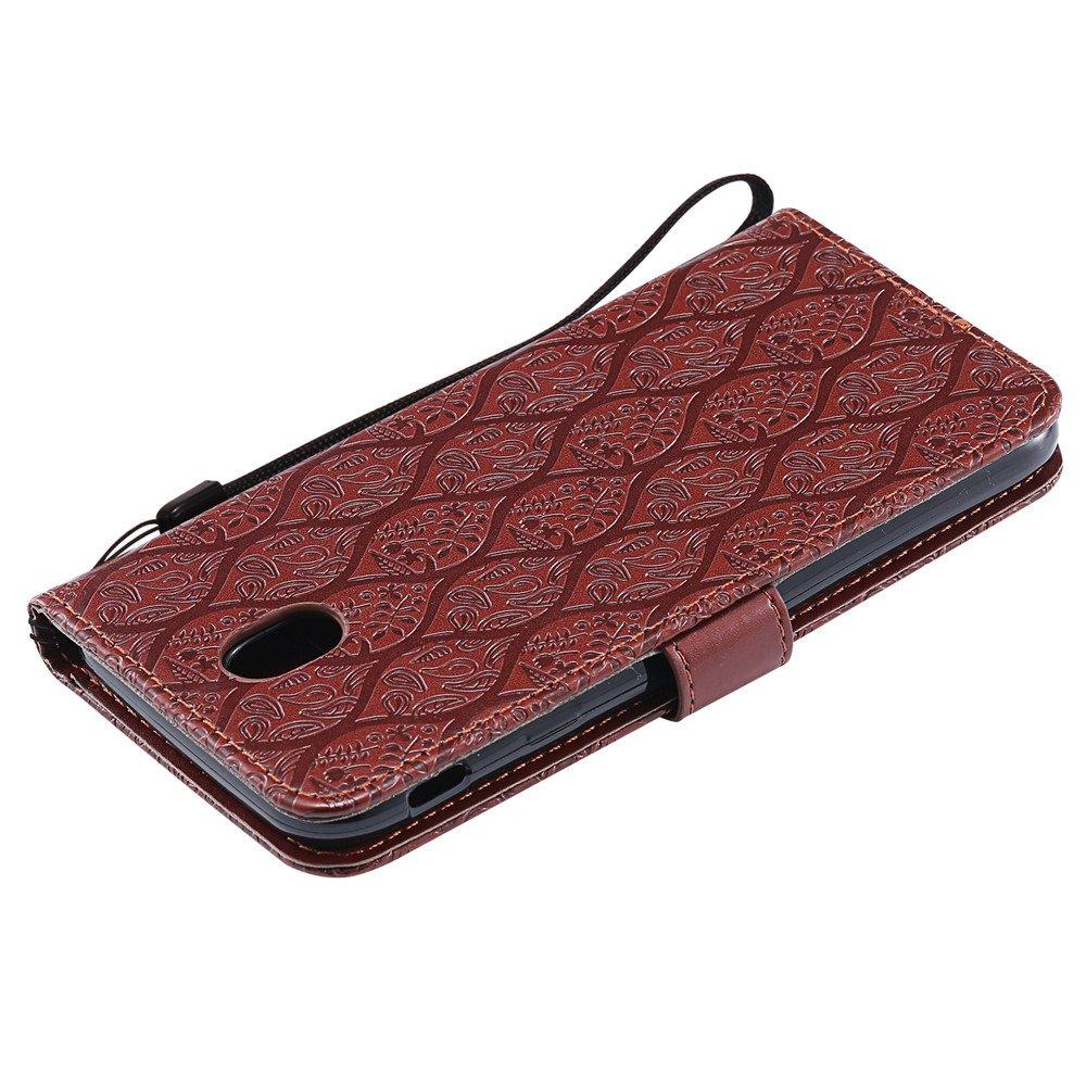 7 Rattan Flower Galaxy J7 Pro PU Leather Cover Wallet Phone Custodia per Samsung Galaxy J7 Pro SM-J730 2017 J7 Pro Wallet Custodia,BestCatgift Red