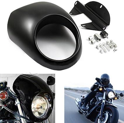 Front Headlight Fairing Mask Cowl Fork Mount For Harley Sportster XL Dyna Glide