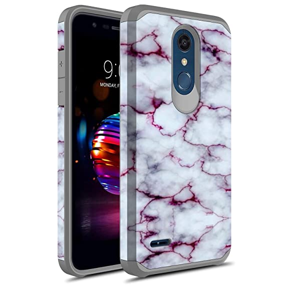 innovative design 718c4 c3b02 LG K30 Case, LG Premier Pro LTE Case, LG Harmony 2 Case, LG Phoenix Plus  Case, Rosebono Slim Hybrid Dual Layer Shockproof Graphic Cover Armor Case  for ...