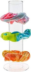 FROG SAC Acrylic Scrunchie Holder Stand, Clear Jewelry Organizer, TikTok VSCO Girl Teen Stuff, VISCO Girls Bracelet Display Organizers, Hair Scrunchy Cylinder, Bracelets and Scrunchies Holders