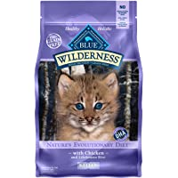 Blue Buffalo Wilderness High Protein Grain Free, Natural Kitten Dry Cat Food, Chicken