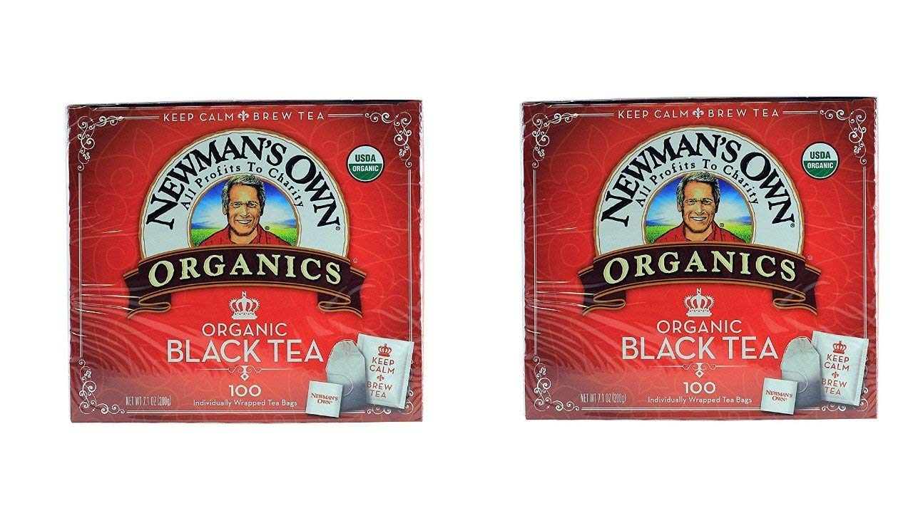 Newman's Own Organic Black Tea - 100 Bags,7.1 OZ. (Pack Of 2)