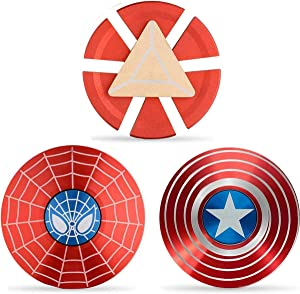 Superhero Fidget Spinners Metal, Fidget Spinner Gifts for Adults and Kids,Anti Stress Anxiety ADHD Relief Figets Toy, Finger Hand Spinner Toys Small Gadget