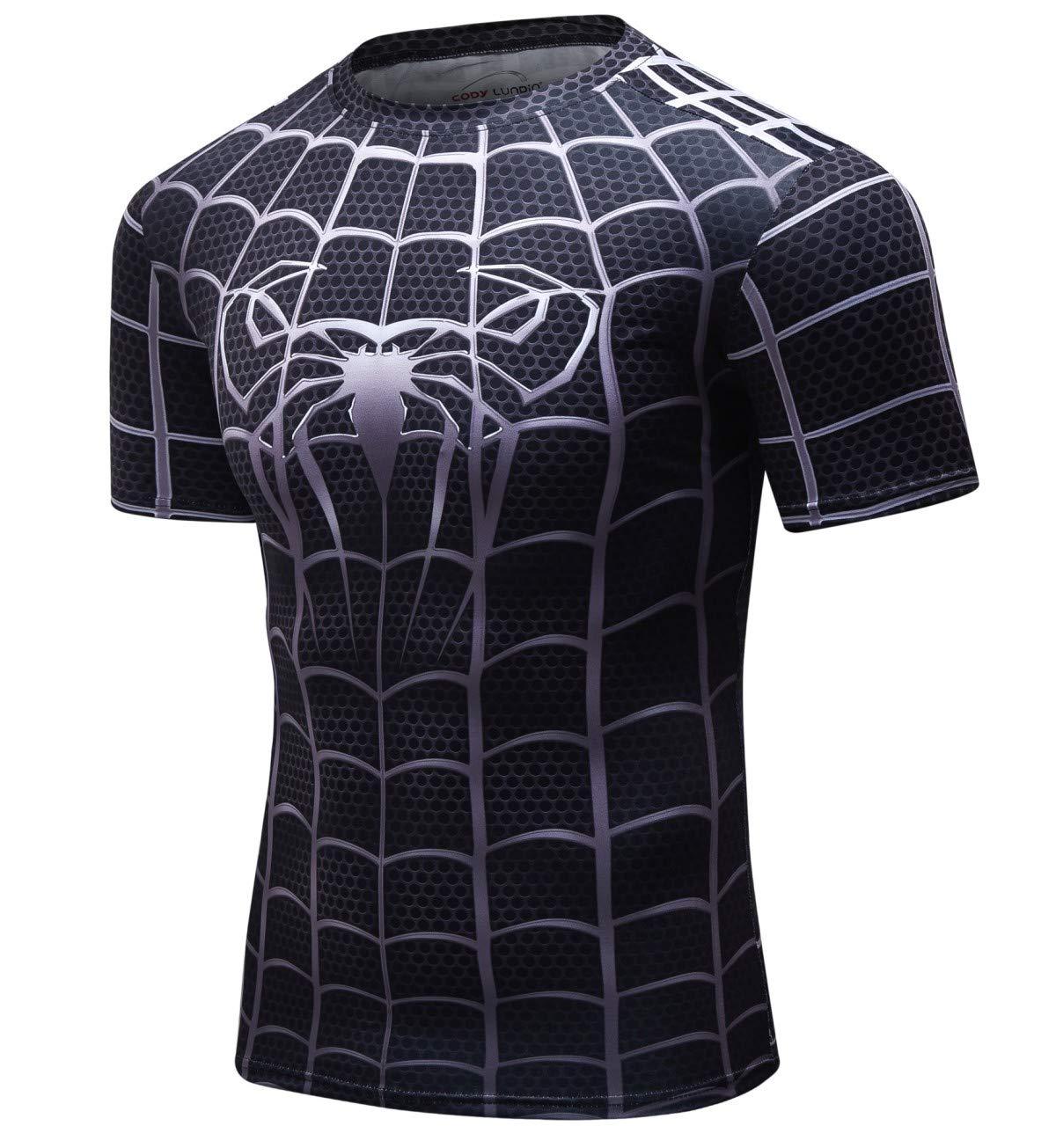 Cody Lundin Camiseta Fintess para Hombre Camisas Ajustadas Negras para  Hombres Camisetas Superhero Camisas Deportivas para ... 300c792726c1b