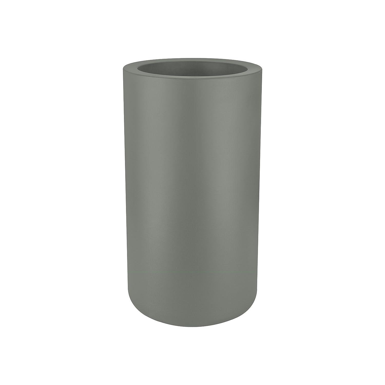 ELHO Blumentopf pure cilinder, hoch 40 cm, grau