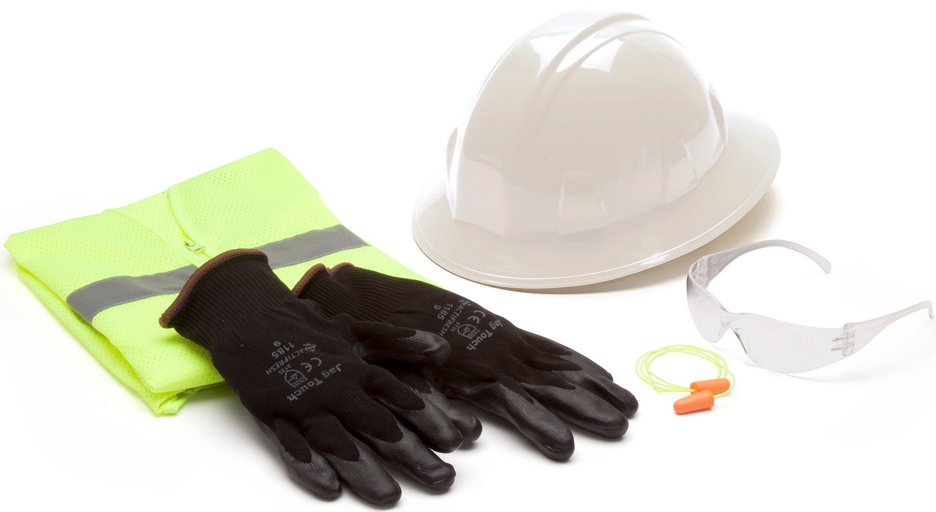 Pyramex Safety New Hire Kit with Safety Vest, Earplugs, Clear Safety Glasses, and Gloves by Pyramex Safety (Image #1)