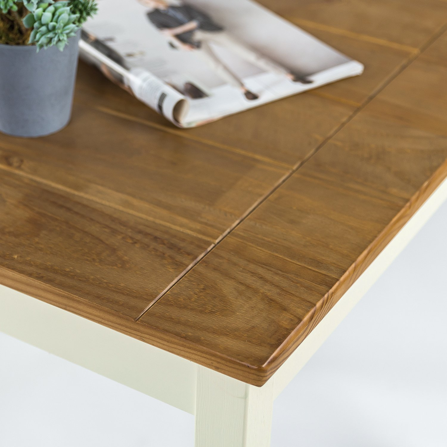 Zinus Farmhouse Square Wood Dining Table by Zinus (Image #4)
