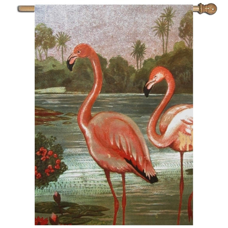 Amazon.com : XIAOTT Pink Flamingo Garden Flag Holiday Decoration 1 ...