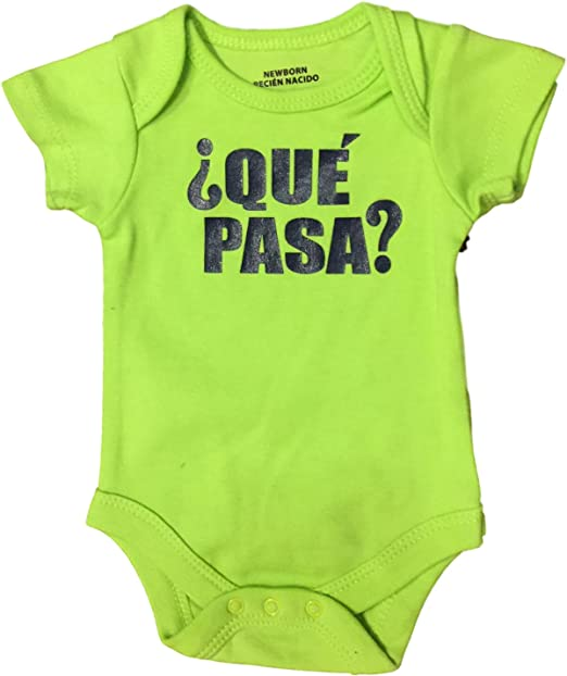 Amazon.com: Baby Creeper Body Suit, Lime Que Pasa? (24 Months): Clothing
