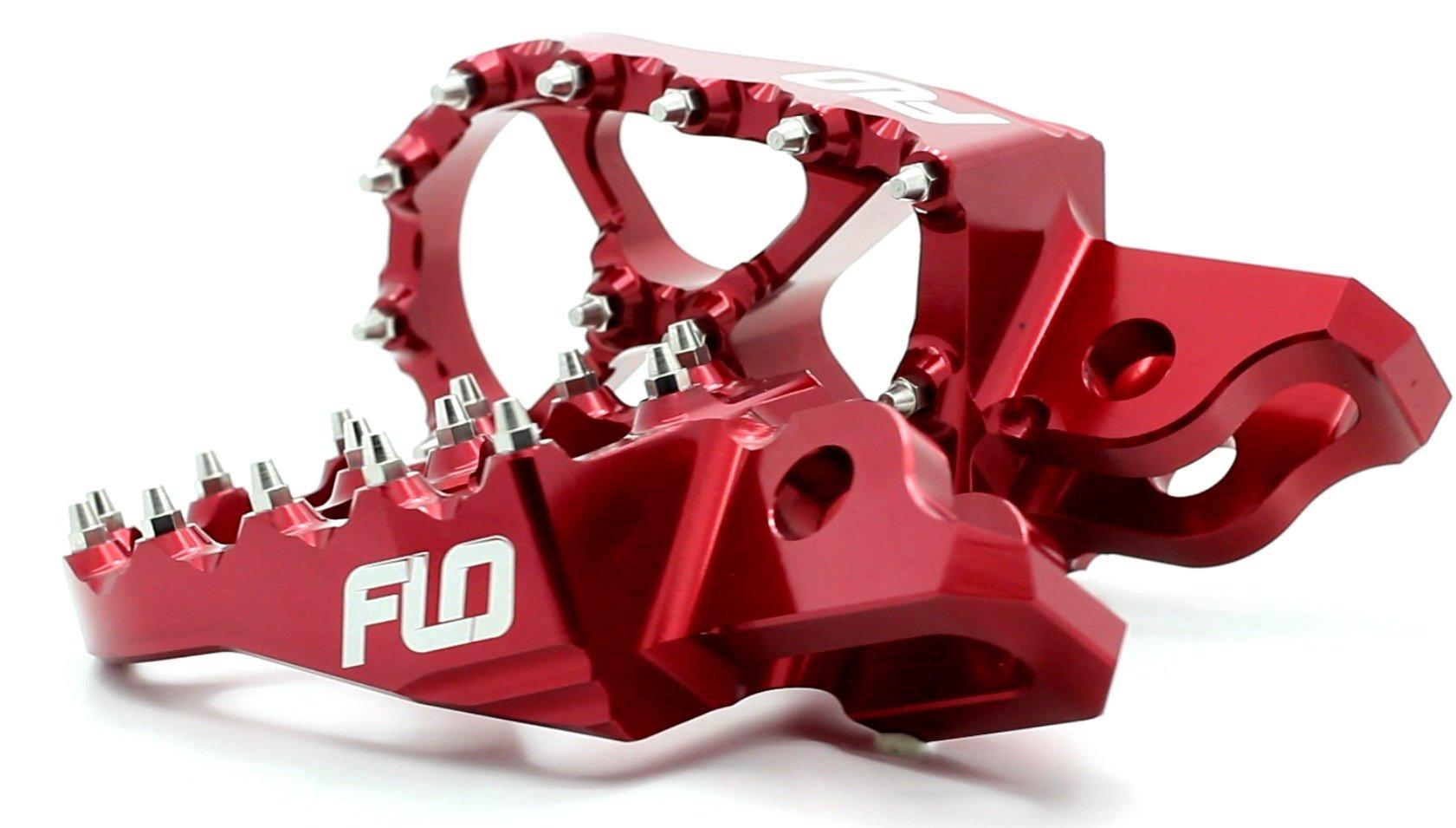 Flo Motorsports Red Honda Crf150r, Cr150/250, Crf250/450r/x 2002-2016 Foot Pegs Fpeg-791r