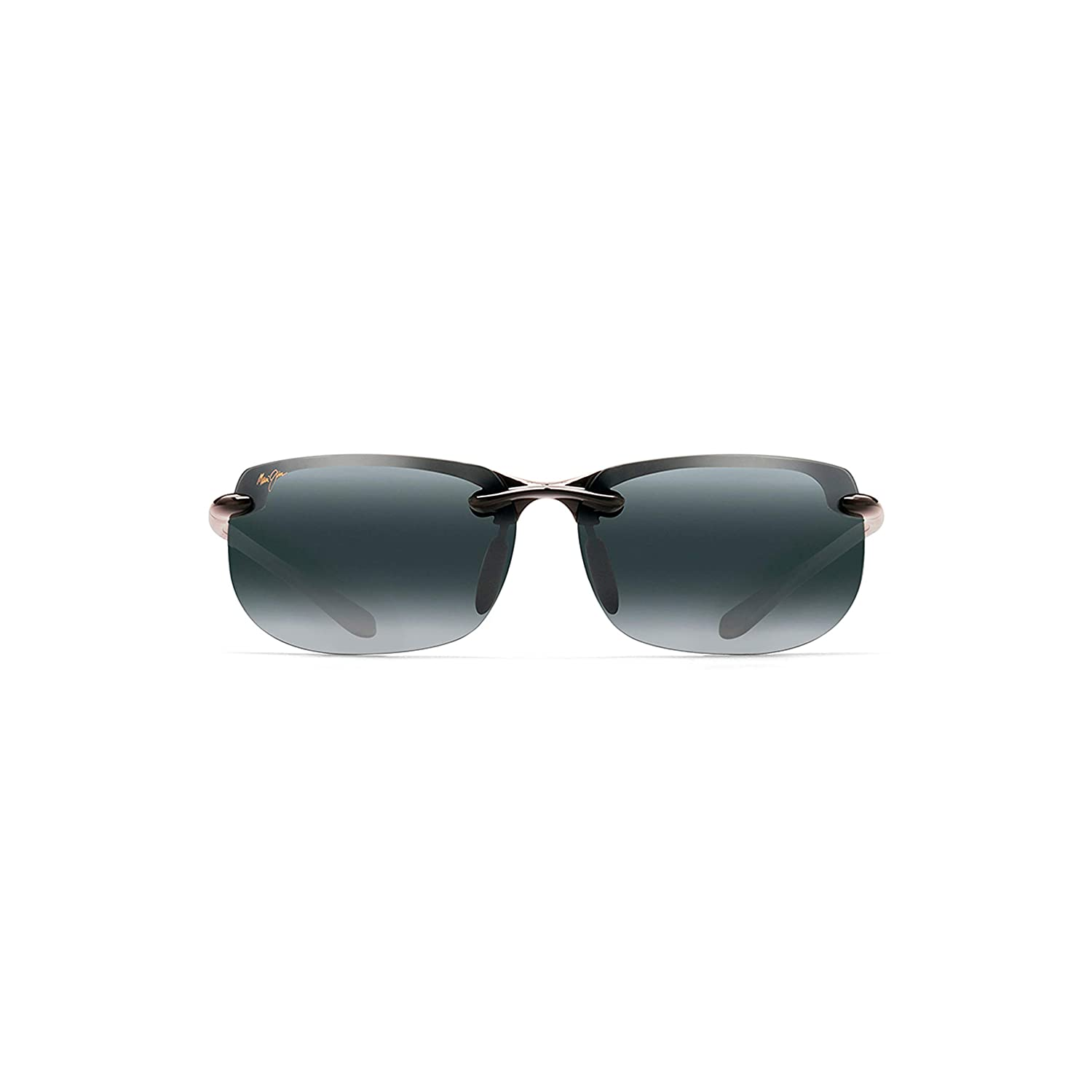 Maui Jim Sunglasses | Banyans (Universal Fit) 412N | Rimless Frame, Polarized Lenses, with Patented PolarizedPlus2 Lens Technology