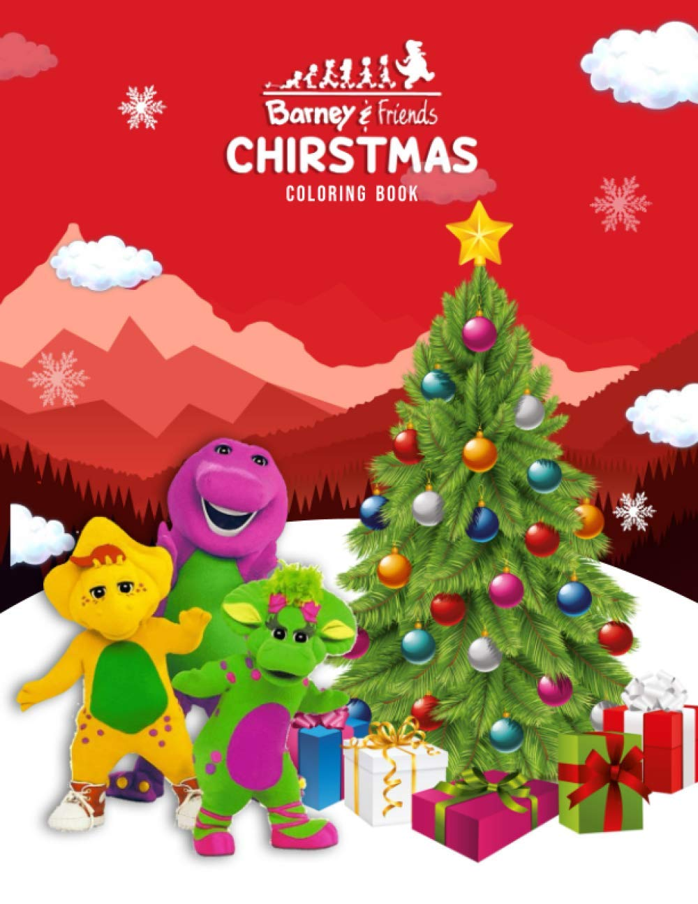 Barney And Friends Christmas Coloring Book 50 Coloring Pages About Cute Character Fun Stimulate The Creativity For Kids Barney Coloring Book Jerimya Ferraro 9798554035289 Amazon Com Books