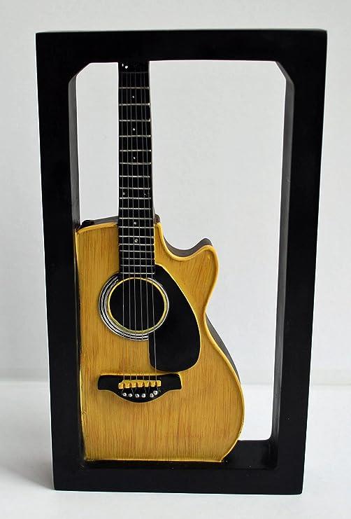 Diseño con texto en inglés de guitarra acústica - 3D - se puede ...