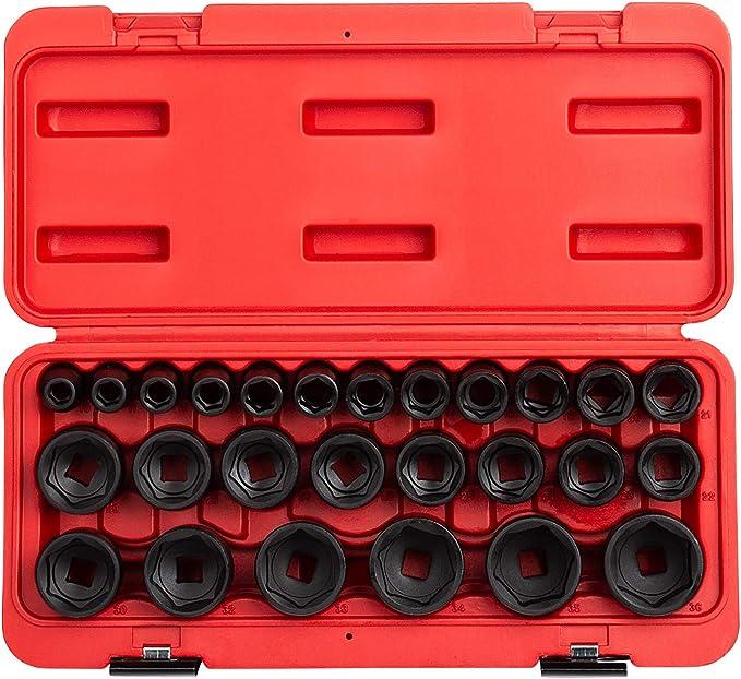 "1//2/"" Drive Metric Socket Set 10-24MM 14Pc Standard Length Signet S13335"