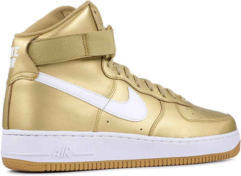 finest selection 5d926 dc93f ... Metallic Gold-White Leather. Nike Air Force 1 High Retro QS - 9 - 823297  700. Back. Double-tap to zoom