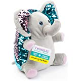 Creativity for Kids Mini Sequin Pets - Twinkles The Elephant Plush Toy - Weighted Sensory Toys for Kids