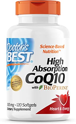ihocon: Doctor's Best High Absorption CoQ10 with BioPerine, Gluten Free, Naturally Fermented, 100 mg, 120 Count