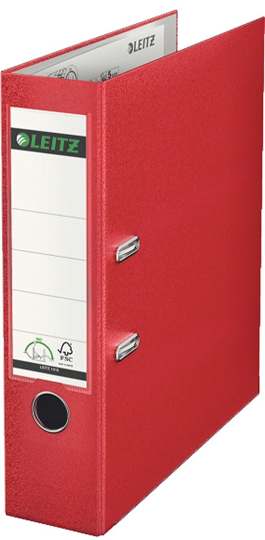 Leitz 10151050 180 color verde Archivador de palanca pl/ástico, lomo 50 mm, A4
