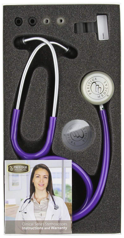 Prestige Medical Clinical Lite Stethoscope,Purple 121