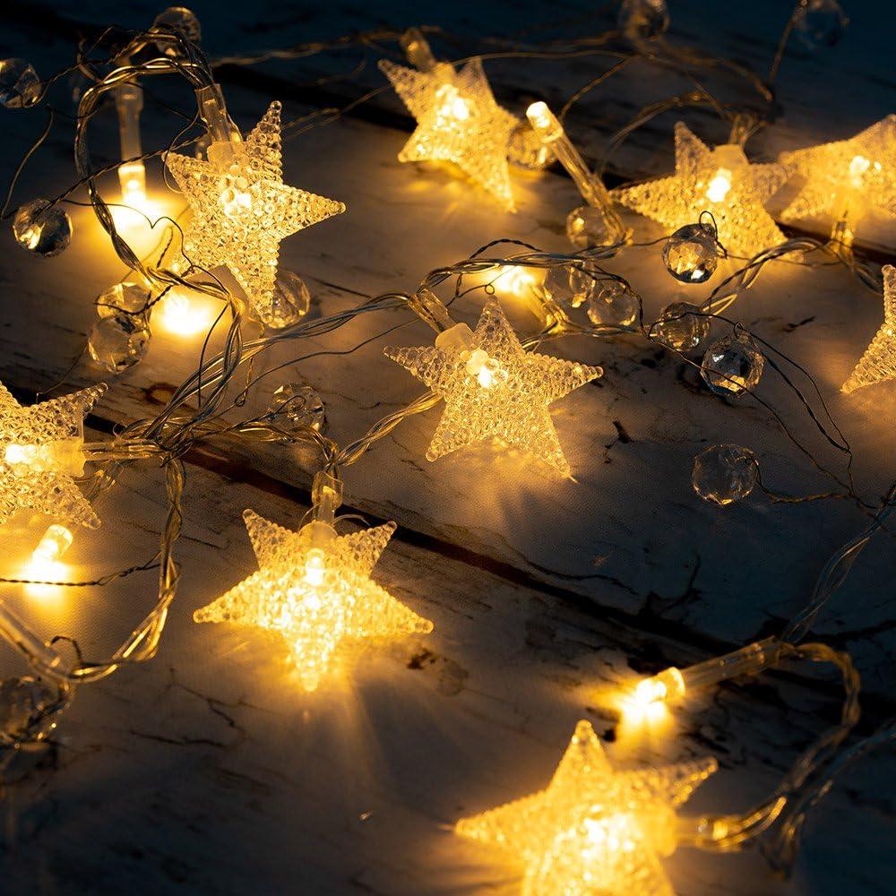 US 20-100LEDs Battery Operated Bead LED String Fairy Lights Home Decor Xmas
