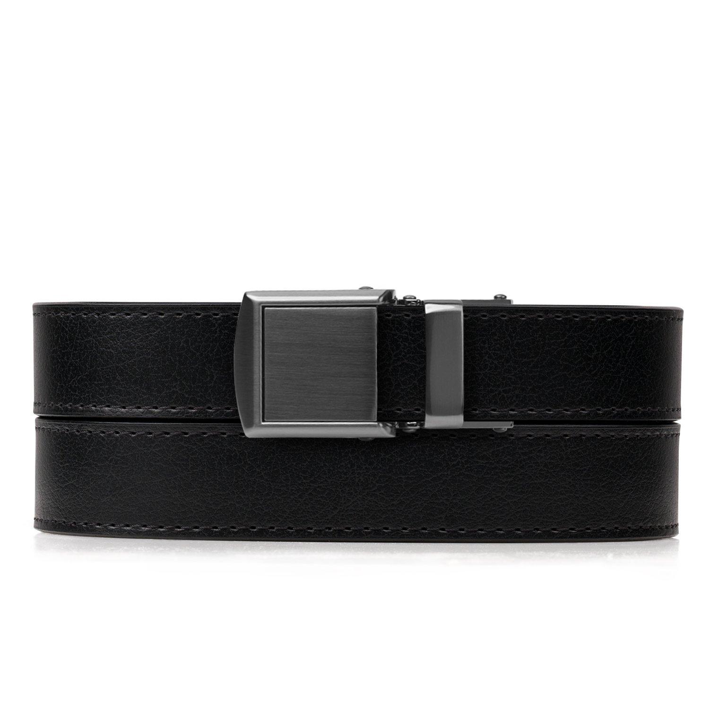 Black Skinny Belt with Gunmetal Buckle